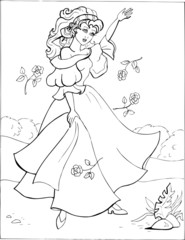 Coloring book for children. Beautiful little princess 15