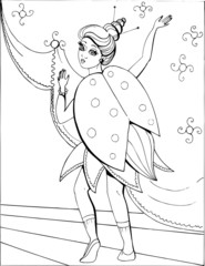 Coloring book for children. Beautiful little princess 38