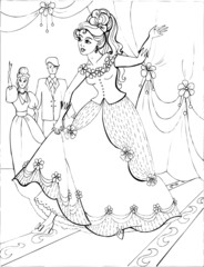 Coloring book for children. Beautiful little princess 39
