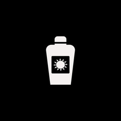 sun oil vector icon. flat sun oil design. sun oil illustration for graphic