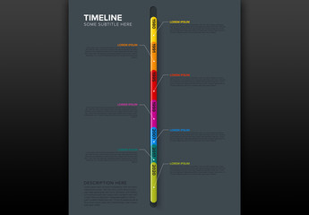 Colorful Vertical Timeline Infographic Layout