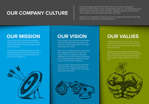 Company Culture Infographic Layout