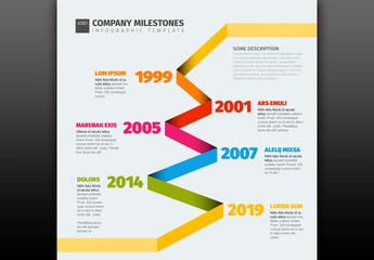 Zig-Zag Timeline Infographic Layout