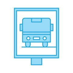 Perfect blue tone icon,vector or pictogram illustration on white background.