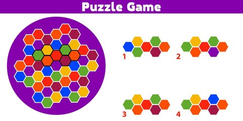 Puzzle game.  Complete the Pattern. Education logic game for preschool kids. Vector Illustration