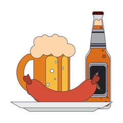 Beer bottle isolated