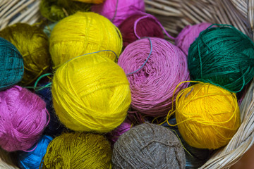 Balls of Threads and Rag Balls, Several Colors
