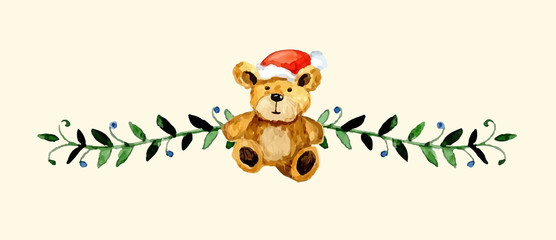 Christmas decoration. Watercolor illustration