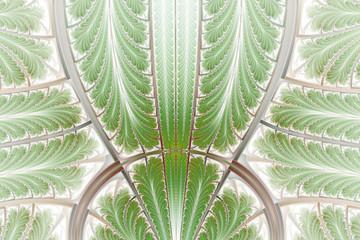 Multicolored symmetrical fractal pattern as ornament. Fractal art.