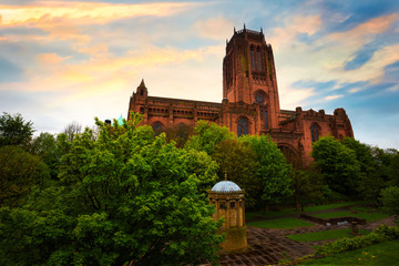 Liverpool Cathedral in Liverpool, UK Wall mural