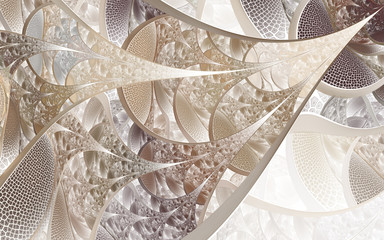 Abstract fractal patterns and shapes. Fractal texture.