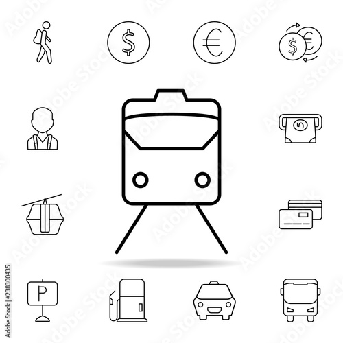train front icon  Element of simple icon for websites, web