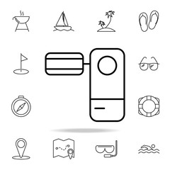 view camera icon. Element of simple icon for websites, web design, mobile app, info graphics. Thin line icon for website design and development, app development on white background
