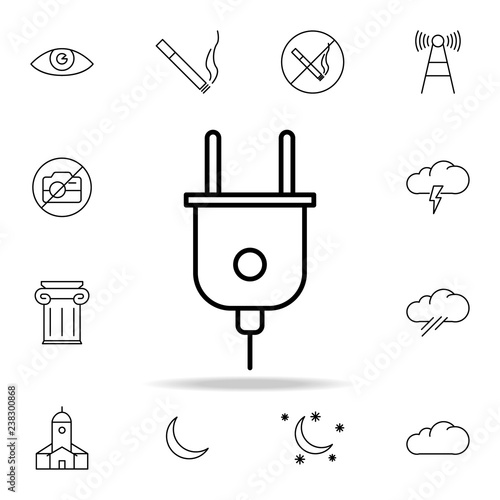 Electrical Plug Icon Element Of Simple Icon For Websites Web