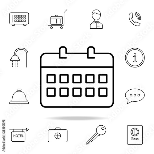 desk calendar icon  Element of simple icon for websites, web
