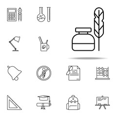 pen and ink icon. education icons universal set for web and mobile