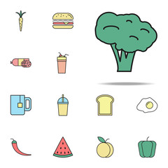 broccoli colored icon. food icons universal set for web and mobile