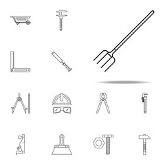 forks icon. Home repair tool icons universal set for web and mobile
