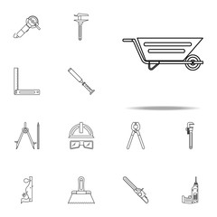 building trolley icon. Home repair tool icons universal set for web and mobile