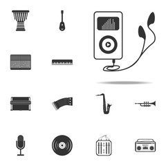 player with headphones icon. Music Instruments icons universal set for web and mobile