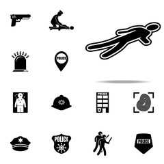 trail of murder icon. Police icons universal set for web and mobile