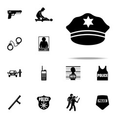 police cap icon. Police icons universal set for web and mobile