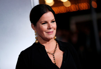 "Marcia Gay Harden poses at the premiere of ""The Mule"" in Los Angeles"