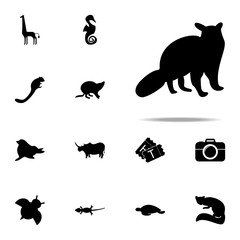 silhouette of opossum icon. zoo icons universal set for web and mobile