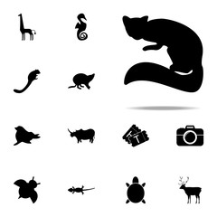 silhouette of marten icon. zoo icons universal set for web and mobile