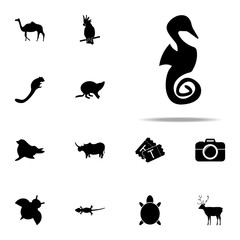 silhouette of seahorses icon. zoo icons universal set for web and mobile
