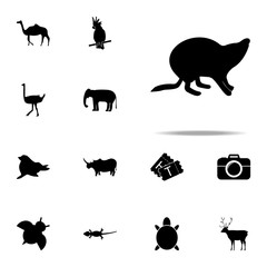 Beaver silhouette icon. zoo icons universal set for web and mobile