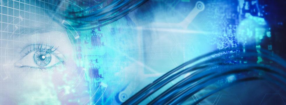 Künstliche Intelligenz Technologie Hintergrund