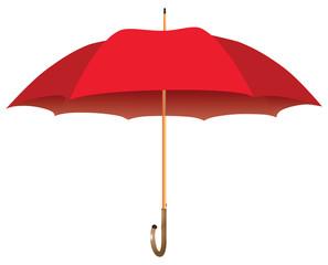 Red big umbrella