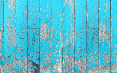 Vintage wood board blue color painted wood wall as background or texture, Natural pattern. Blank copy space.