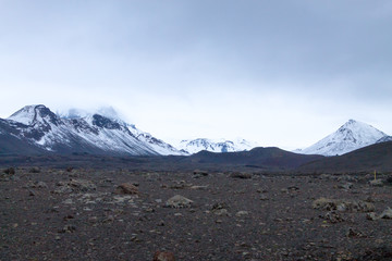 Desolate landscape from Askja caldera area, Iceland