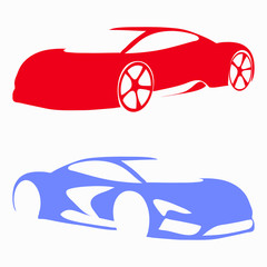 car body color symbols colored background quality illustration