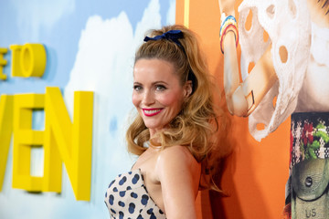 "Cast member Leslie Mann poses at the premiere for the movie ""Welcome to Marwen"" in Los Angeles"
