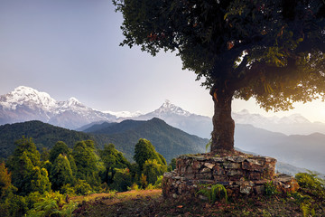 Landscape of Himalayan Mountains