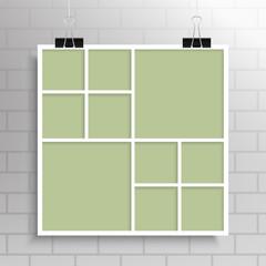 Collage Ten Frames for Photo or Illustration.