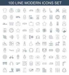 100 modern icons