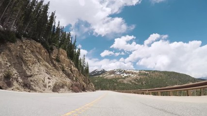 Wall Mural - Driving on mountain highway 40 over Berthoud Pass in the Summer.