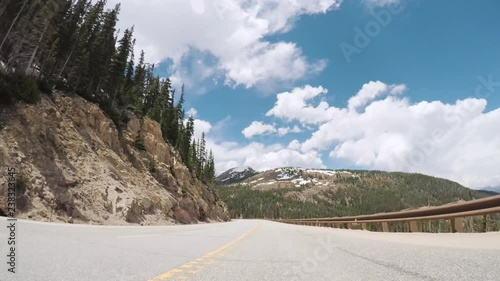 Wall mural Driving on mountain highway 40 over Berthoud Pass in the Summer.