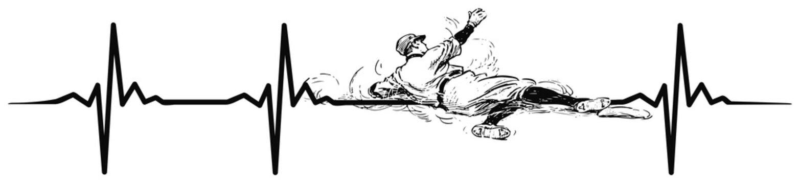 Baseball heartbeat #isoliert #vektor - Herzschlag