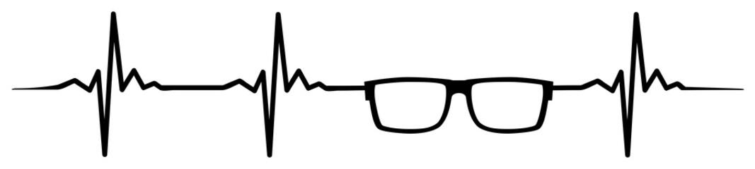 Glasses heartbeat #isoliert #vektor - Brille Herzschlag