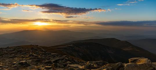 Delicious Panoramic Babia Gora Sunset