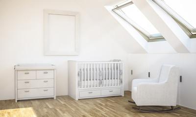 frame mockup on baby room