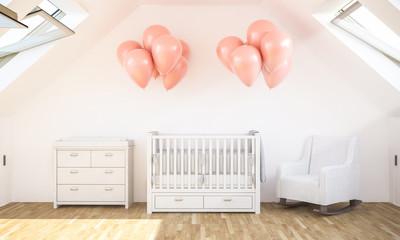 baby room on attic