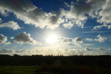 Amazing sky Background landscape