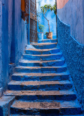 Hinterhof in Tanger in Marokko