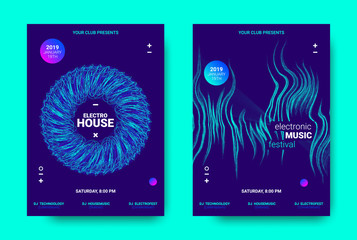 Music Posters with Light and Movement Effect.